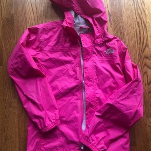 Jackets & Blazers - North face hot pink rain coat